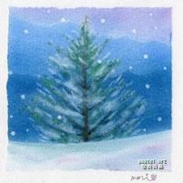 雪の中のモミの木