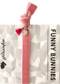 1 elastisches Samt Armband mit Tassel und Anhänger Velvet 04