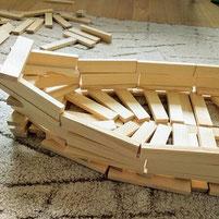Дървен конструктор за игра