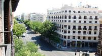 Vistas desde balcón calle Alcalá.