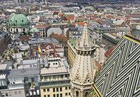 Blick aus Stephansdom
