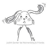 Hase skeptisch FRAGEZEICHEN - Illustration aus dem Moment mal! ALLTAGSTROTTVERTREIBER Blöckchen - Judith Ganter - Illustriertes Kopfkino für Alltagsoptimisten - bei Rannenberg & Friends - Geschenkartikel mit Bildern
