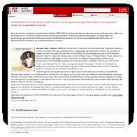 Webscreen: Openbroadcast - Pressemeldung 1/2018 von PILATES Hamburg-Nord