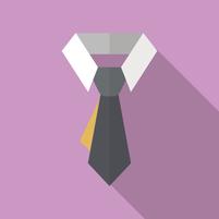 事務所の特徴 ネクタイ