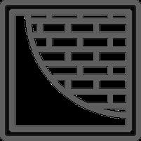Icon verputzte Mauer