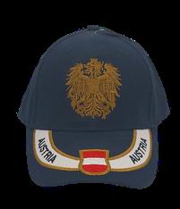 Kappe Austria navy, Stick Wappen und Adler