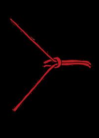 パイプへのロープの縛り方1