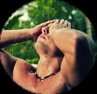 Massagezeitraum, Bild, , Mann, Massage, Gesicht, Entspannung, Erotik, Duschen, Regen