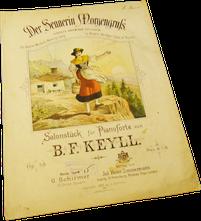 Привет альпийской пастушки, Кейль, ноты для фортепиано