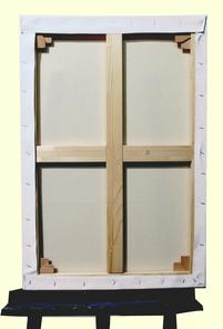 E boutique / E shop Verso - Toile à monter soi-même coton 73*50 cm