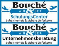 Doppellogo Bouché Air & Sea GmbH: SchulungsCenter und Unternehmensberatung Luftsicherheit & sichere Lieferkette