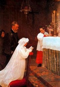 パブロ・ピカソ「初聖体拝領」(1896年)