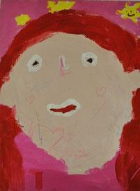 Selbstportrait eines neunjährigen Roma-Mädchens, entstanden 2014 in Nürtingen, alle Rechte vorbehalten!
