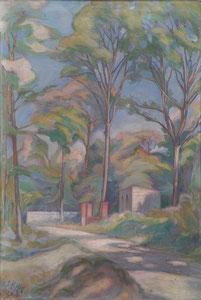 chemin en forêt 1919 huile sur toile André Aaron Blils