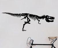 Dinosaur Tyrannosaurus Rex Skeleton wall art decal