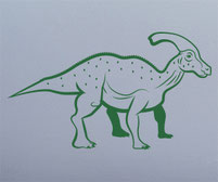 'Paras' the Parasaurolophus Dinosaur wall art decal