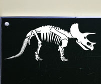 Dinosaur Triceratops Skeleton Wall Art Decal Sticker