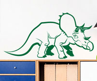Tricey the Triceratops dinosaur wall art decal
