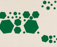 Hexagon, vinyl stickers