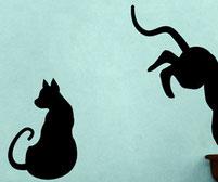 Cats, vinyl stickers