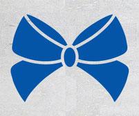 Pretty wedding bow sticker