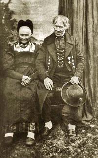 Simon Mittermayer. Geboren 1792 gestorben 1867 - mit Frau