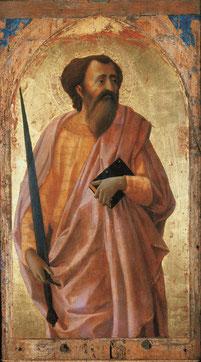 Masaccio, San Paolo 1426 Tempera e olio su tavola Pisa, Museo Nazionale di San Matteo,Polo museale regionale della Toscana