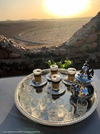 Camping Chabab Saghro - Kaffee mit Blick ins Tal