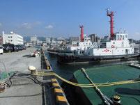 徳山港 波止の内側