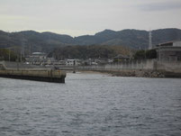 光井港 三井川の河口