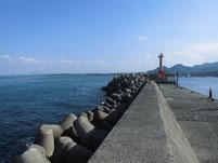 波津漁港 外波止 外海側