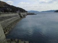 大島漁港 漁港右側