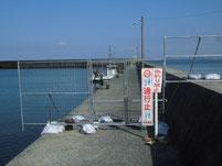 波津漁港 右側 外波止