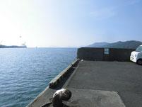 徳山港 ふ頭 角付近