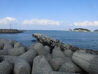 芦屋漁港 外波止先端付近