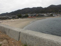 室積港 砂浜