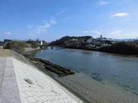 西郷川 河口周辺 上流側