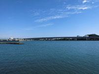 有帆川河口 橋桁 の写真