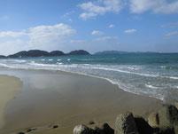 釣川河口部 左岸側 砂浜
