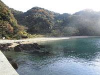 戸田漁港(桑原漁港) 砂浜