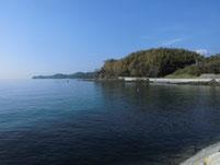長田海浜公園 右側 海岸