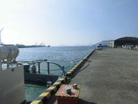 徳山港 ふ頭 港湾内側