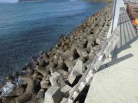 鐘崎漁港 外波止 梯子