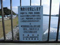 西川合流地点周辺 西祇園橋 釣り禁止