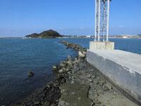 遠賀川河口堰 西川合流地点周辺