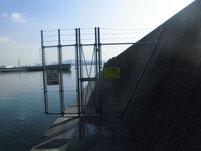 長田海浜公園 左側の波止 立ち入り禁止
