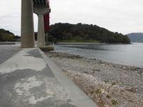 笠戸大橋下 右岸側 先端付近