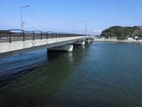 遠賀川 芦屋橋左岸側 橋桁