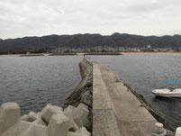 西ノ浜漁港 波止 先端付近