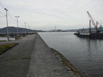 洲鼻漁港 外波止付け根付近